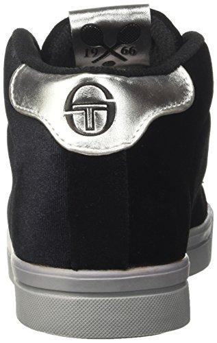 Noir Hautes Her Gt Mid Femme 51 Baskets Tacchini black Sergio silver Velvet YSq88x