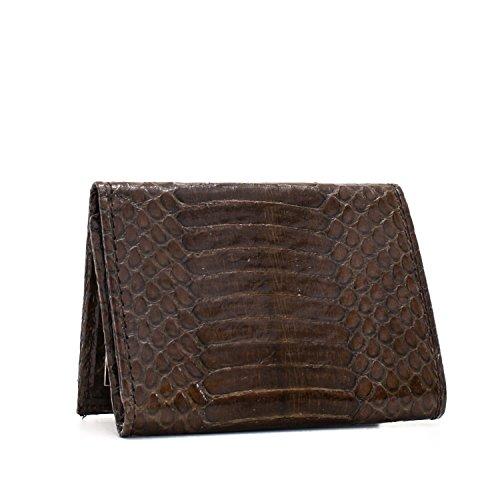 Implora Genuine Cobra Snakeskin Leather Trifold Wallet Brown - Belly Cobra Snakeskin Leather
