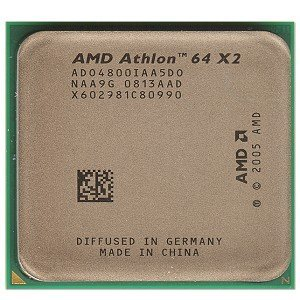 - AMD Athlon 64 X2 4800+ Brisbane 2.5GHz 2 x 512KB L2 Cache Socket AM2 65W Dual-Core Processor With FAN