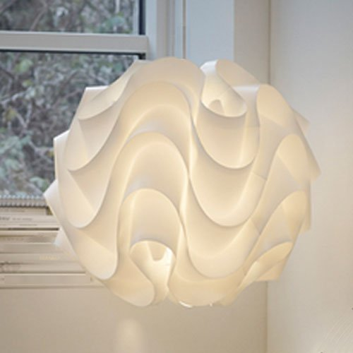 12 nuevo meringue modern ceiling suspension lamp with waved layers