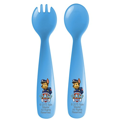 Zak Designs Toddlerific Toddler Fork and Spoon with Characters 2 Piece Set, Paw Patrol