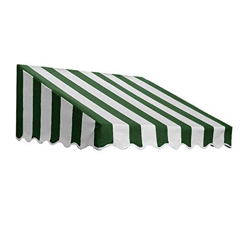 Stripe Awning Yarn (Awntech 3-Feet San Francisco Window/Entry Awning, 24 36-Inch, Forest Green/White)
