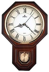 Amazon Com Traditional Schoolhouse Pendulum Wall Clock