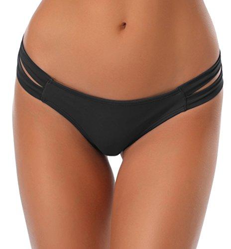 Da Perizoma Spiaggia mare Vita Slip Bikini Stile brasiliano bassa Donne Bagno Pantaloni Bottom Bikini Nuoto Donna Tronchi Costumi SHEKINI Thong Bathing Nero Tanga Da Sexy Fashion UqgII