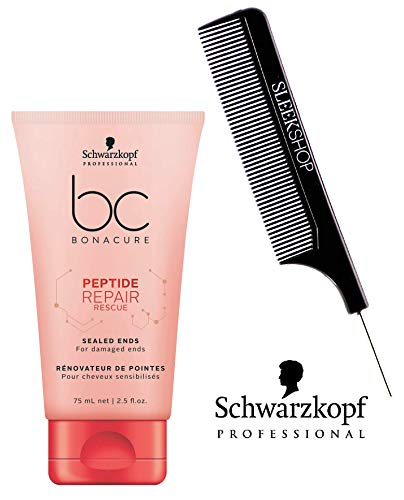 Rescue Bonacure Repair - Schwarzkopf BC Bonacure Repair Rescue SEALED ENDS for damaged ends (with Sleek Steel Pin Tail Comb) (2.5 oz / 75ml - retail size)
