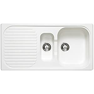 composite kitchen sinks uk astracast msk 1 5 composite white kitchen sink co 5663