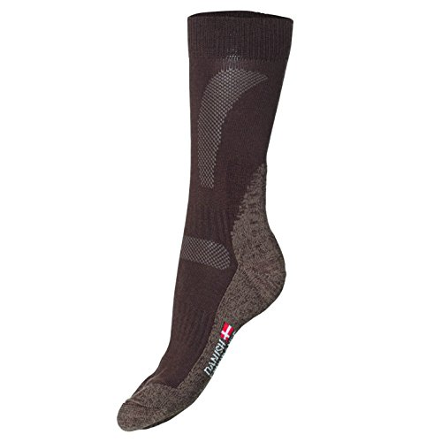 DANISH ENDURANCE Merinowolle Allwetter Leistung Socken // (Braun - OAK BROWN, EU 39-42 // UK 7-9)