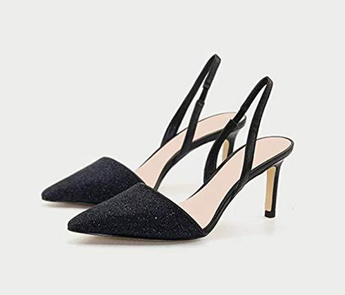 Juego Precoz Cruzadas Zapatos Zapatos Cruzadas Yukun Grueso De De Black Otoño Hebilla 8637c3
