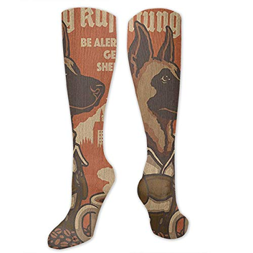 Barnwood Foot - Klnsha7 Camping Rules - Barnwood Painting Unisex Knee High Athletic Soccer Football Tube Socks for Adults