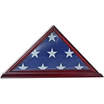 .com : 4' x 6' flag display case flag storage shadow box frame ...