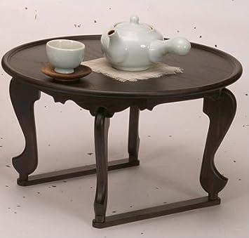 À Basse Thé Bois Pin Ronde Table De Coréenne Traditionnelle mN0PvnOy8w