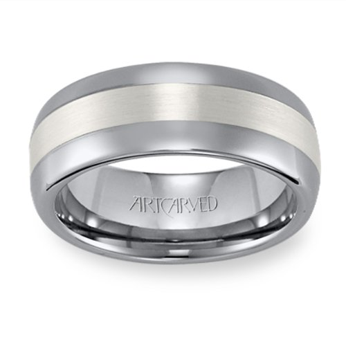 11-WV2503SC Jordan Tungsten and SIlver Wedding Band from ArtCarved by ArtCarved