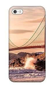 Best Iphone 5/5s Case Bumper Tpu Skin Cover For Golden Gate Accessories 4010730K54517187
