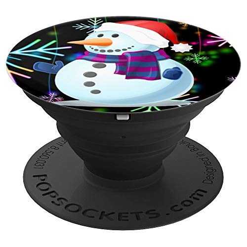 Cute Christmas Snowman Snowflake Pattern Design Gift Idea - PopSockets Grip and Stand for Phones and Tablets ()