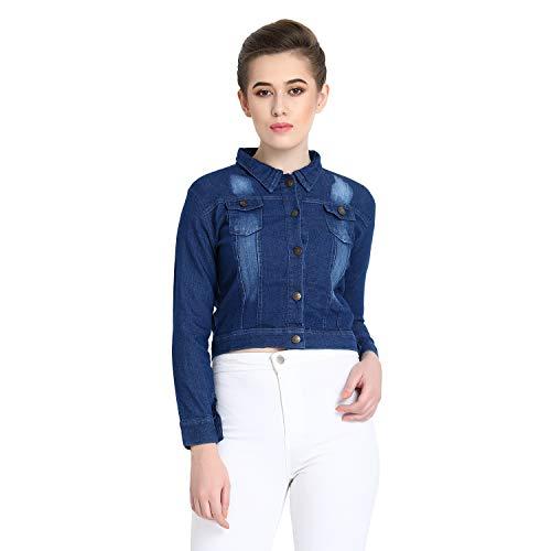 Syolo Full Sleeves Solid Blue Women Denim Jacket