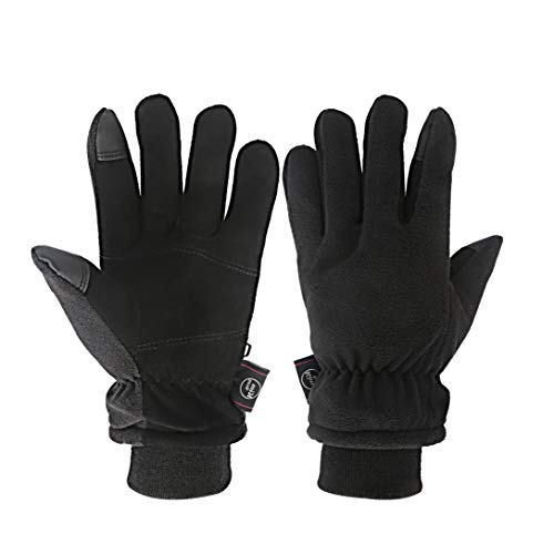 - KIM YUAN Winter Gloves - Cold Proof, 3M Thinsulate, Deerskin Suede Leather, Cold Weather Warm Gloves for Men & Women M