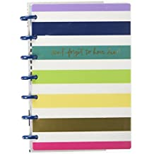 "MAMBI PLNM-72 5.125"" x 7.5"" Keep Life Fun Happy 12-Month Dated Mini Planner, Multicolor"