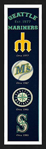 Winning Streak Seattle Mariners Framed Heritage Banner 13x36 - Picture Frame Seattle Mariners