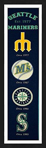 (Winning Streak Seattle Mariners Framed Heritage Banner 13x36 inches )