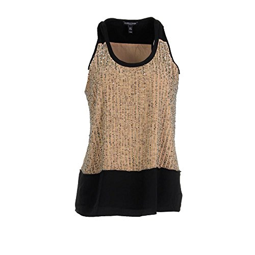 Eileen Fisher Women's Small PS/PP Petite Beaded Blouse Silk Black PS