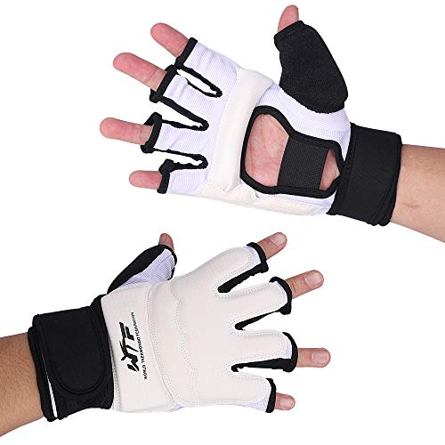 Half Finger Taekwondo Gloves Hand Protector Guard,Sandbag Sparring Grappling Training Glove,Half Mitts for UFC Martial…