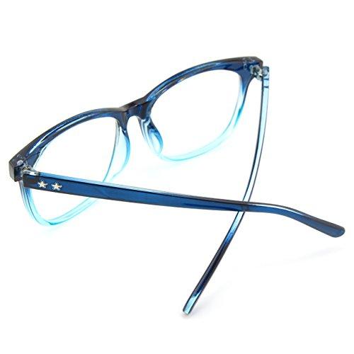 audacieuse monture verres CGID grosses d'écailles CN81 oversized à Blue Lunettes UV400 transparents monture 11nHwz