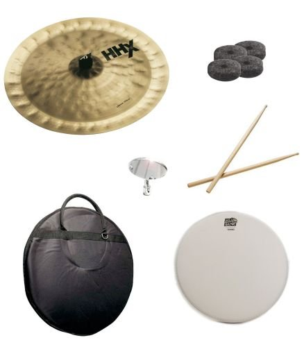 (Sabian 18-Inch HHX Chinese Pack with Cymbal Bag, Snare Head, Drumsticks, Drum Key, and Cymbal Felts)