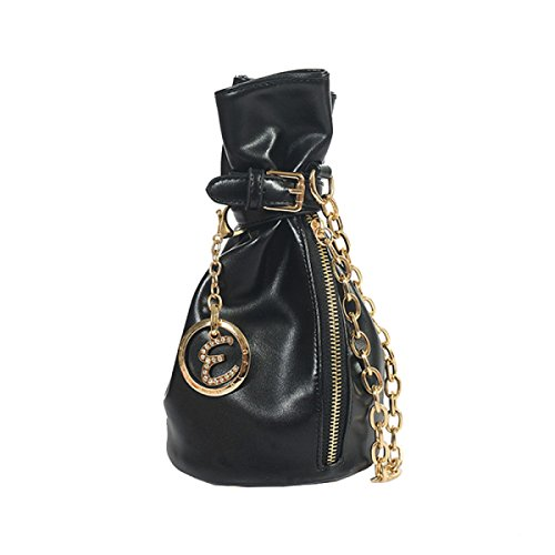 GSHGAWomens Clutch Bags Bolso De Cadena Bolso Del Cubo Bolsa De Moda,Green Black