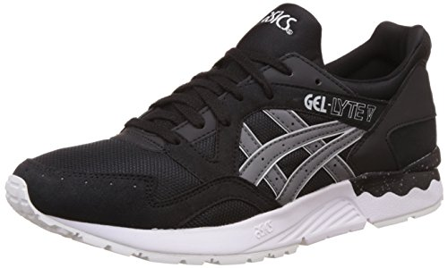 Asics Tiger Unisex Black and Grey Sneakers - 8 UK/India (Men 42.5 EU/9 US)(Women 42 EU/10 US)