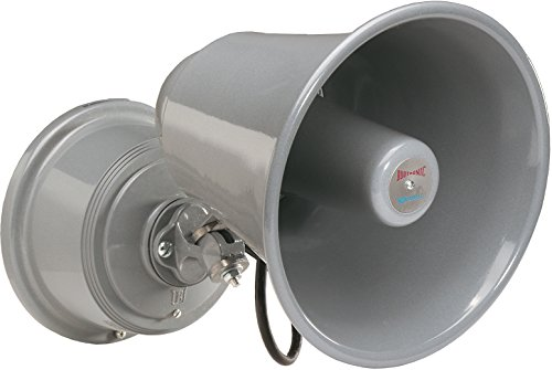 Edwards Signaling 5520-N5 Electronic Horn and Siren, 124/114 db (Horn), 112/102 db (Siren), Low Current, High Decibel, 120V AC, Gray by Edwards-Signaling