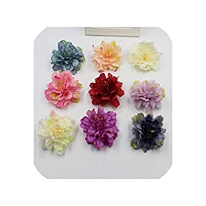 Barry-Story New 5 Pieces of Gradient Carnation Flower Head Flower Artificial Silk Flower Decoration Wedding Wreath Scrapbooking Gift ar 43