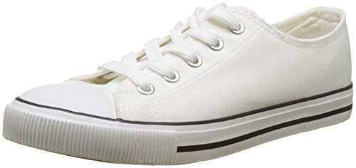 New fermé à marqués pour femmes bout Talons 10 Look blanc Blanc gTqdpO