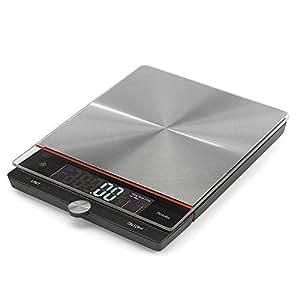 Polder - Digital báscula de cocina, de acero inoxidable 22 ...