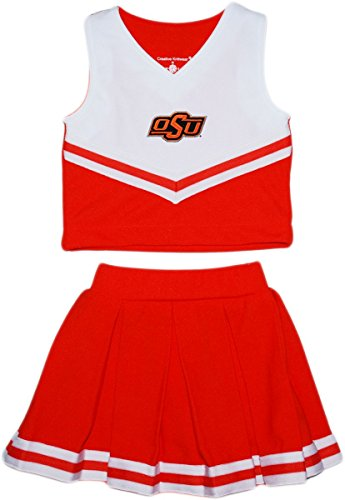 Oklahoma State University OSU Cowboys Toddler and Youth 2-Piece Cheerleader Dress Orange]()