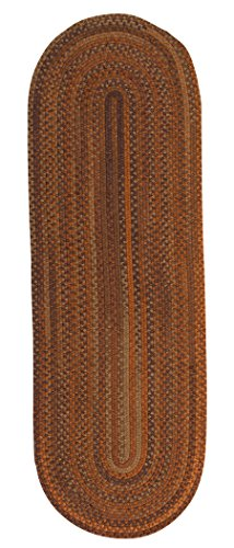 Colonial Mills Rustica Braided Rug, 2 by 4', Audubon Russet
