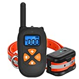 SKY-TING Dog Training Collar-1475ft Remote Dog Shock Collar, 100% Waterproof and Rechargeable bark