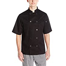 Chef Code mens Short Sleeve Unisex Classic Chef Coat