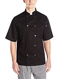 Chef Code Mens Short Sleeve Unisex Classic Chef Coat Chef's Jacket