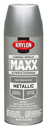 Krylon K09193000 COVERMAXX Spray Paint, Metallic Aluminum, 11 Ounce by Krylon