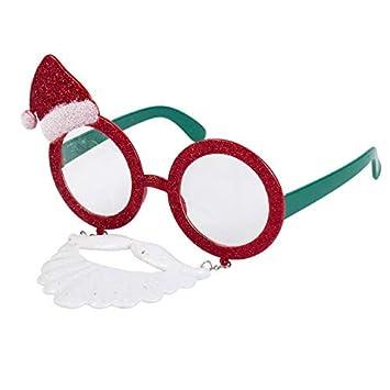 b4b8b91ead88 Glitter Santa Claus Novelty Christmas Glasses w  Moustache  Amazon ...