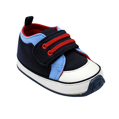 Kuner Baby Boys and Girls Cotton Rubber Sloe Outdoor Sneaker First Walkers Shoes (13.5cm(12-18months), Blue-1)