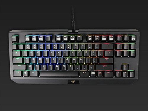 Compact Layout Clicky RGB Mechanical Gaming Keyboard Razer BlackWidow Tournament Edition Chroma Razer Green Switches