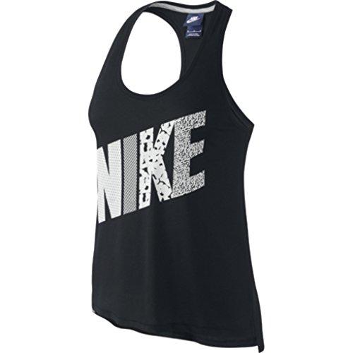 Nike Women's Prep Mixed Print Tank (MD, BLACK/SUMMIT WHITE)