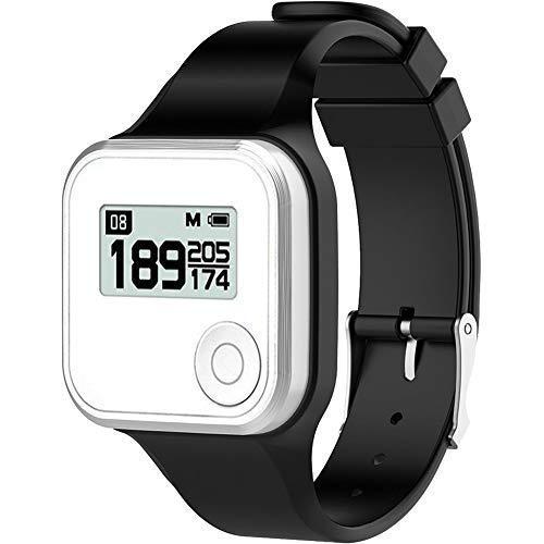 Golf Buddy Bundle Voice 2 Golfbuddy Voice2 Easy-to-Use Talking GPS (Black) + Silicon Wristband (Black)