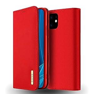 Radoo Coque iPhone 11 (6,1 Pouces) en Cuir Véritable,Housse Premium Fine en Cuir Véritable avec Fermeture Magnétique…