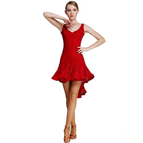 Lady Pendolo Pizzo Colore Q 5 Latin Slim Stereo Vestito Coda Rondine Gonna jiu Puro Spirale Dance aOaIT