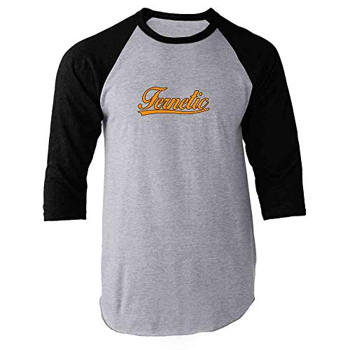 Pop Threads Fernetic Fernet Graphic Black 3XL Raglan Baseball Tee Shirt