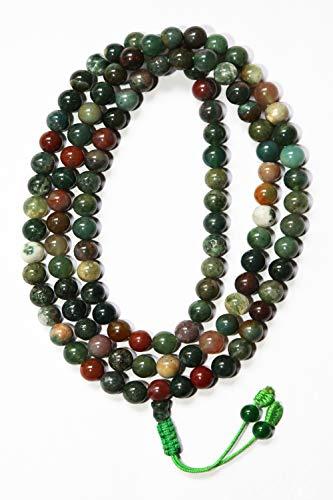 Mix Jasper Stone, Tibetan & Buddhist Prayer Mala, 108 Bead ()