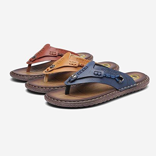 C Blu Morbidi Scarpe Antiscivolo Moda Pantofole HUO Sandali Marrone Alla Casual Gli Inferiori Uomini Da Per Spiaggia AqHxapw