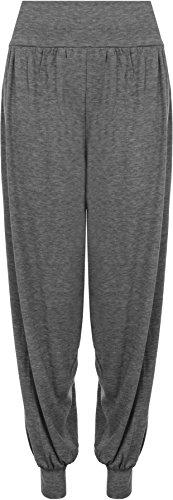 WearAll grande scuro Donna 44 pantaloni Harem misure grande Grigio Plain 7 colori 54 qqd7Cr